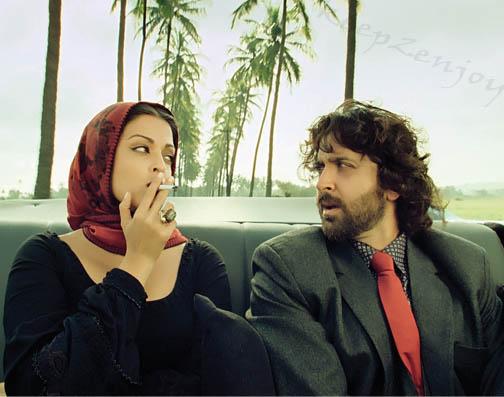Aishwarya Rai is smoking Sigar and Paralysis Hrithik Roashan is seeing her