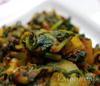 Potato Spinach Masala