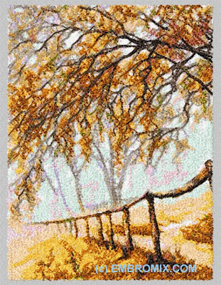 look autumn mist machine embroidery design by embroidery mix