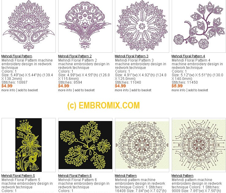 Best Machine Embroidery Designs Ethnic Indian Mehndi Embroidery Designs
