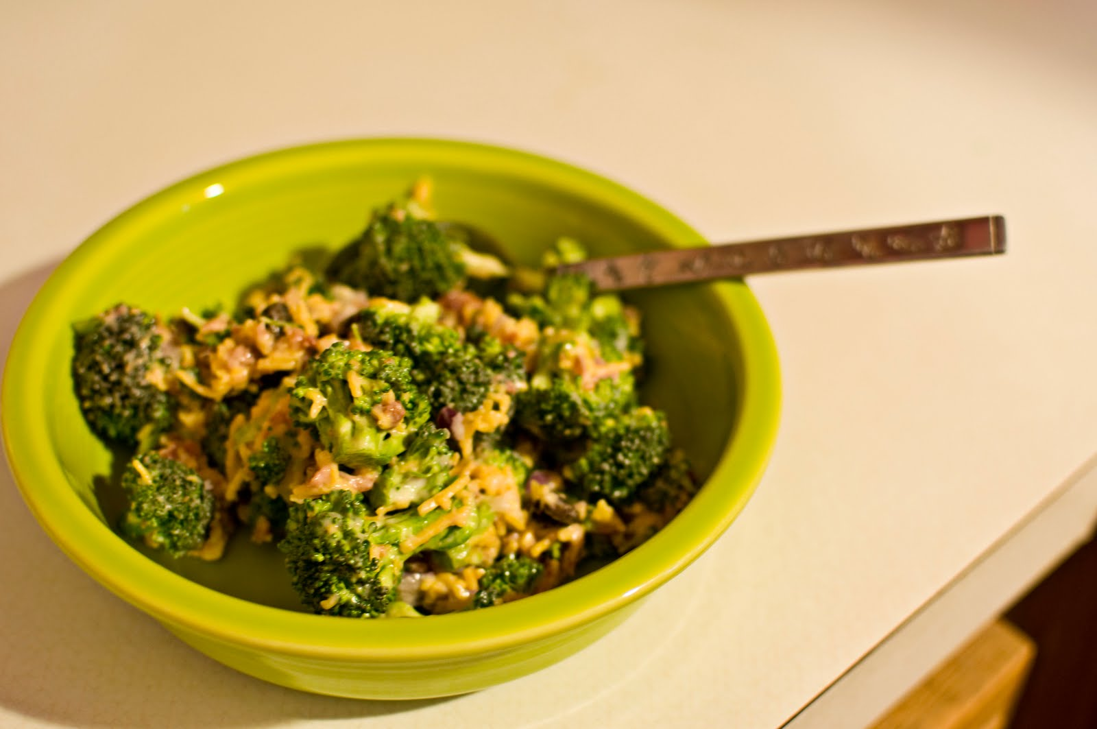 the farmer and the southern belle: Broccoli, Bacon, and Cheddar Salad