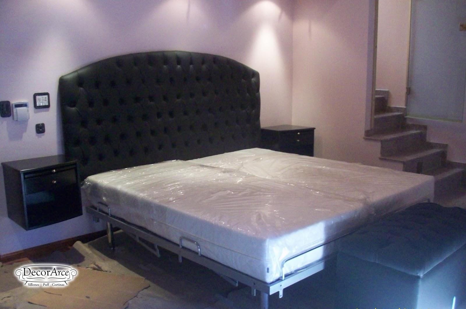 Respaldo de cama en capiton decorarce mobiliario para - Respaldo para cama ...