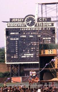 Roosevelt Stadium Scoreboard Detail - 1973