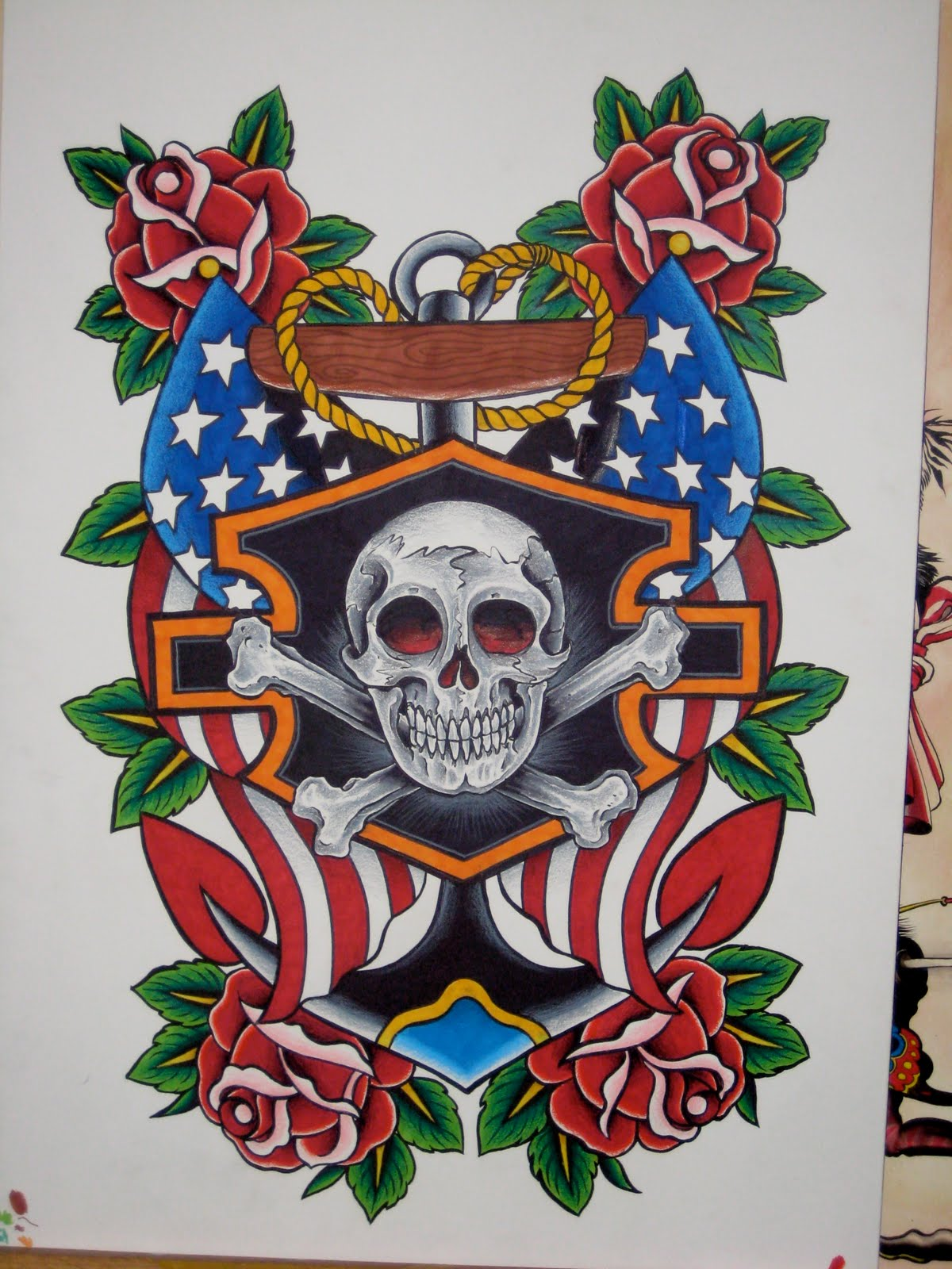 The Inspiring Harley Davidson Tattoos Designs Images