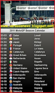 Jadwal MotoGp 2011