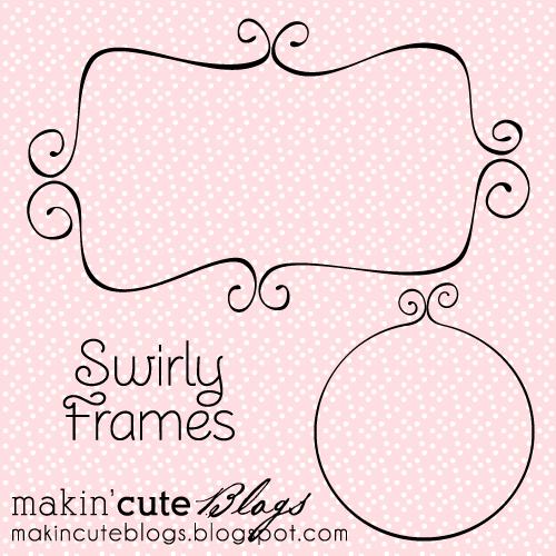 Vector Swirly Frames designed by Makin' Cute Blogs MakinCuteBlogs-SwirlyFrames