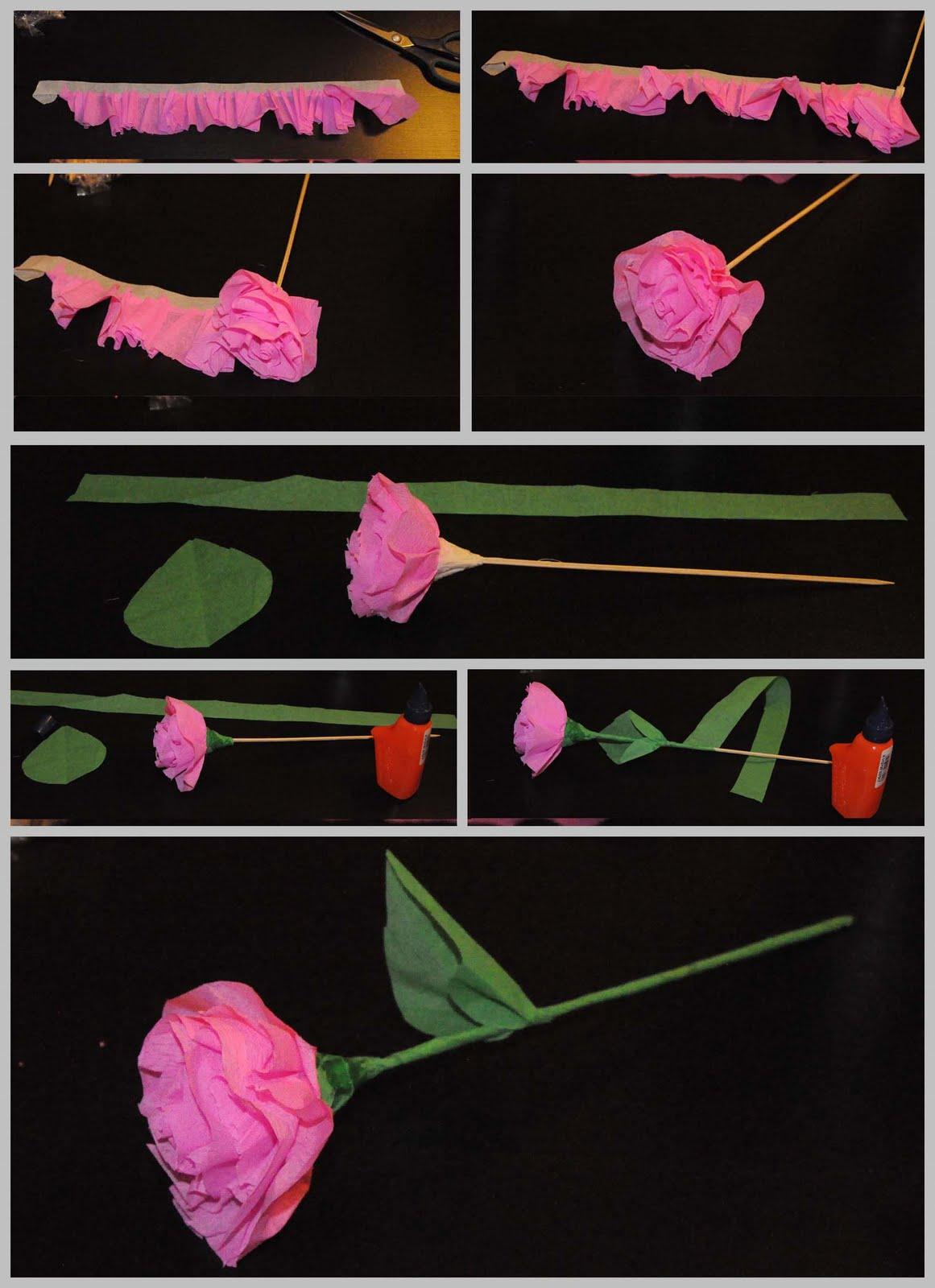 Krapon Kağıdından Kolay Çiçek Yapımı