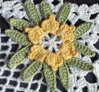 Yapraklı dantel modeli