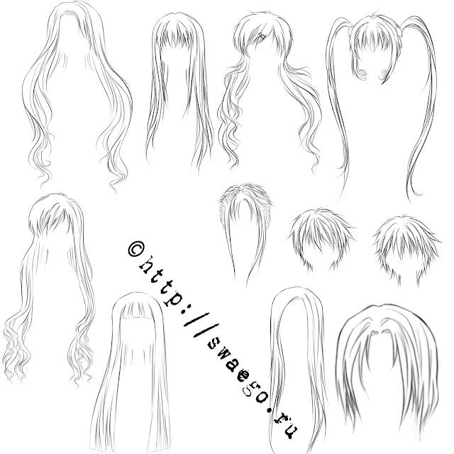 Волосы аниме причёски глаза ресницы