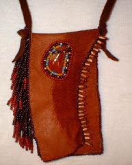 Leather w/ beads