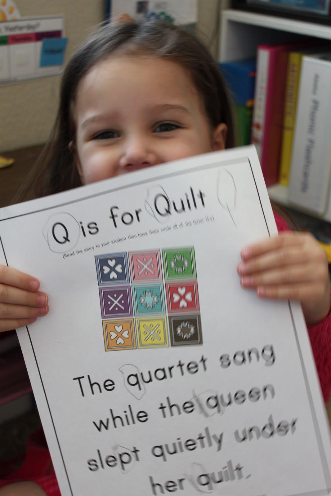 Q Is For Quilt Prek Letter Q - Confes...