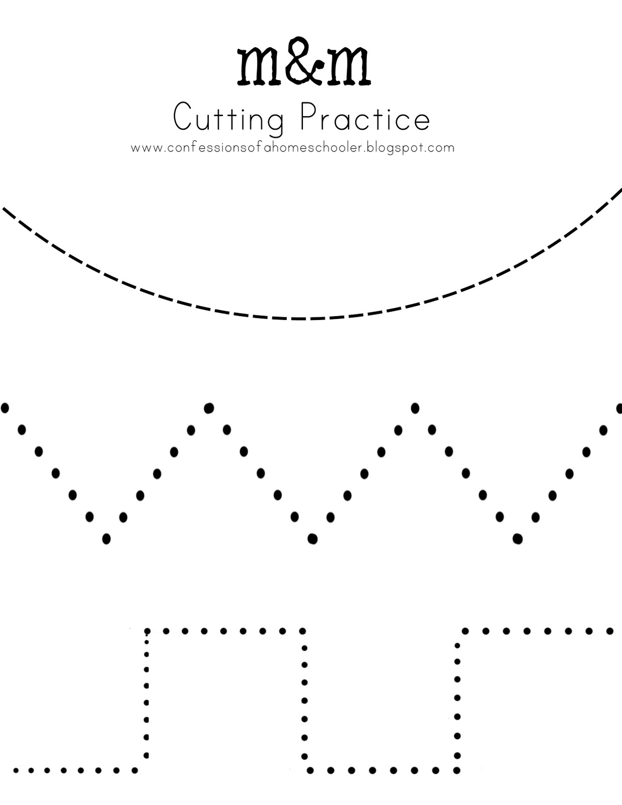 Universal image pertaining to cutting practice printable