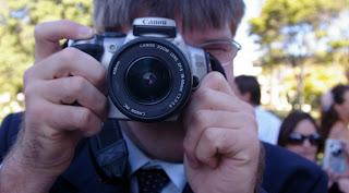 Luke photographing me