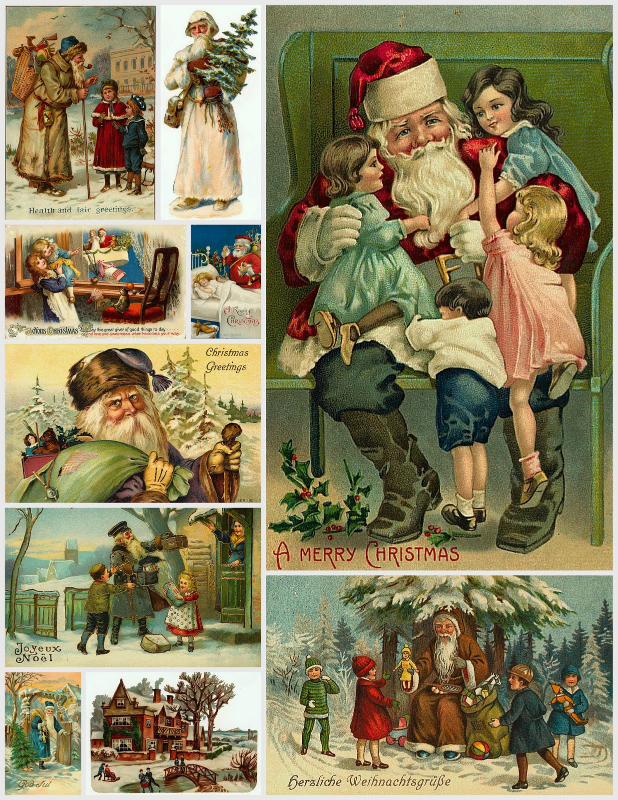 #6F391E Magic Moonlight Free Images: Christmas Collages For You! 5535 décorations de noel vintage 1237x1600 px @ aertt.com