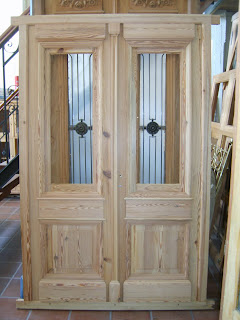 Corralon del tiempo puerta doble cod003 for Puertas antiguas de madera de 2 hojas