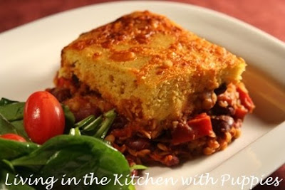... in the Kitchen with Puppies: Vegetarian Chili with Cornbread Topping