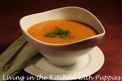 Spicy Tomato and Blue Cheese Soup and Shaved Fennel Salad with Oranges ...