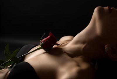 mulher sexy,com rosa vermelha,corpo e alma