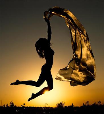 mulher,por do sol