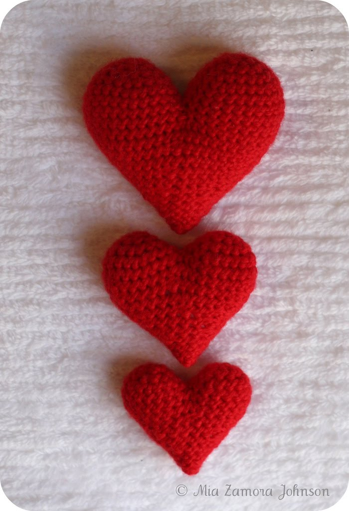 Crochet Patterns Hearts : Hearts from Owlishly. Everyone needs a heart sometimes.