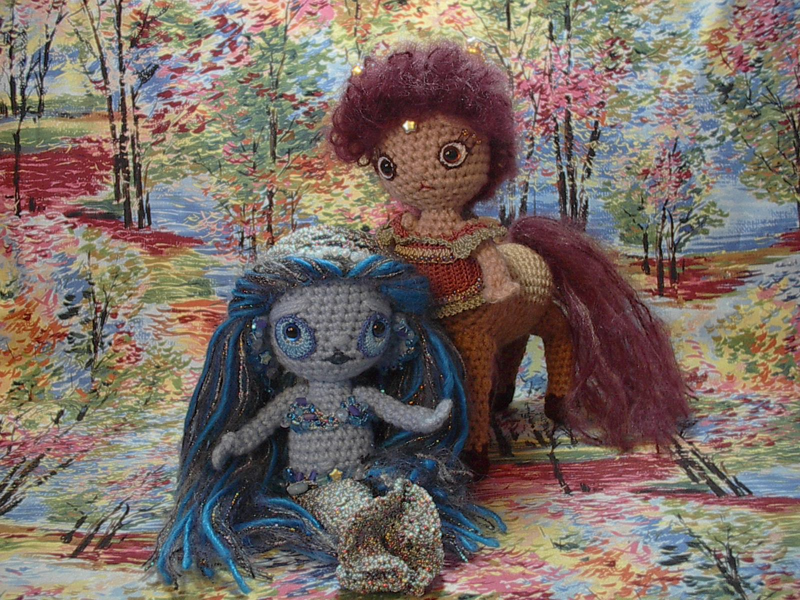 Crochet by the Sea Mermaid Pattern Doll Toy Annies Attic - Sunny