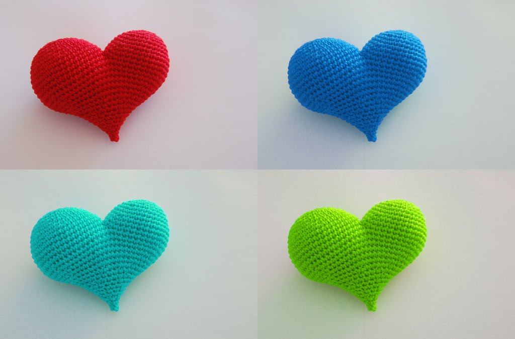 Amigurumi Heart Tutorial : 2000 Free Amigurumi Patterns: More Hearts