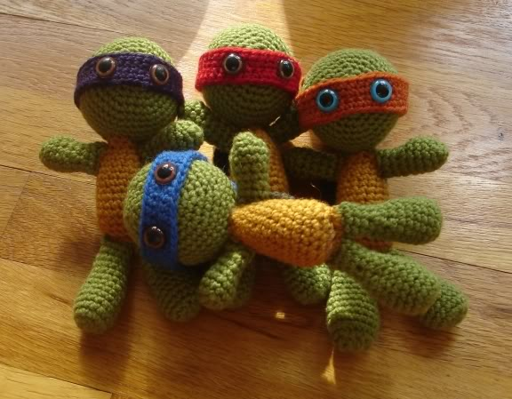 Amigurumi Ninja Kaplumbaga Yapimi : 2000 Free Amigurumi Patterns: Teenage Mutant Ninja Turtles ...