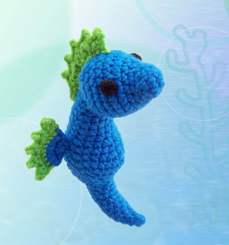 Free Crochet Patterns For Sea Animals : 2000 Free Amigurumi Patterns: Seahorse