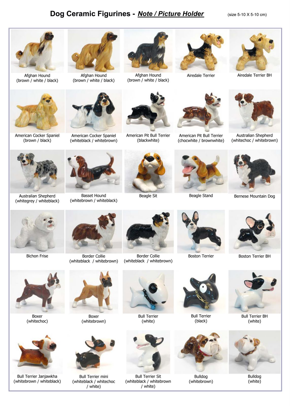 Dog breeds names