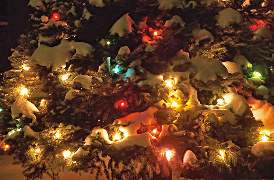 christmas tree snow lights - photo #29