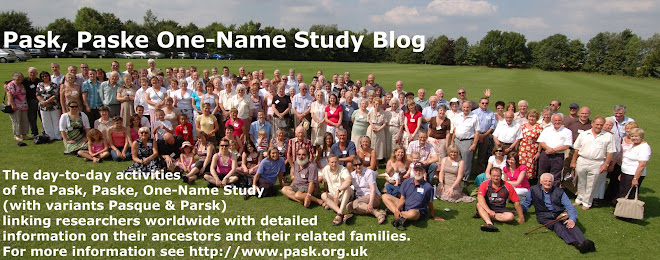 Pask, Paske One-Name Study Blog