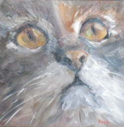 Barbara Pask's paint of a cat