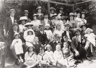 1918 Wedding of Elizabeth (Lizzie) Martha J. Uridge & Robert Rudd