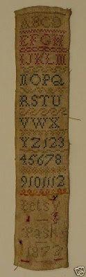Betsy Pask Sampler 1872
