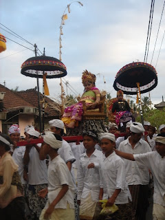 A grand child of the king of Ubud during a ceremony near our villa hotel in Ubud 