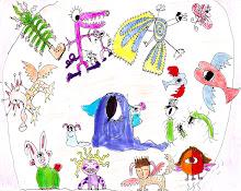 dibujando extraterrestres con mama