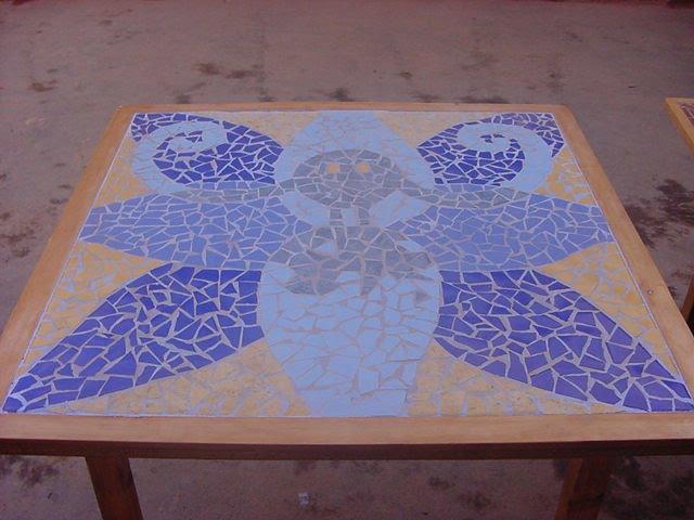 "Mesa mosaico ""petro azul"""