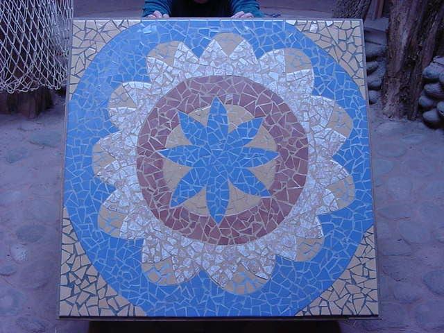 """Mesa mosaico """"mandala"""""""