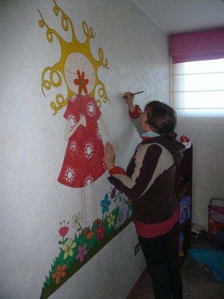Mural para una niña de 5 años