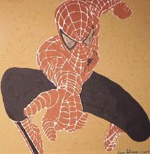 Homem aranha - terra sobre mdf