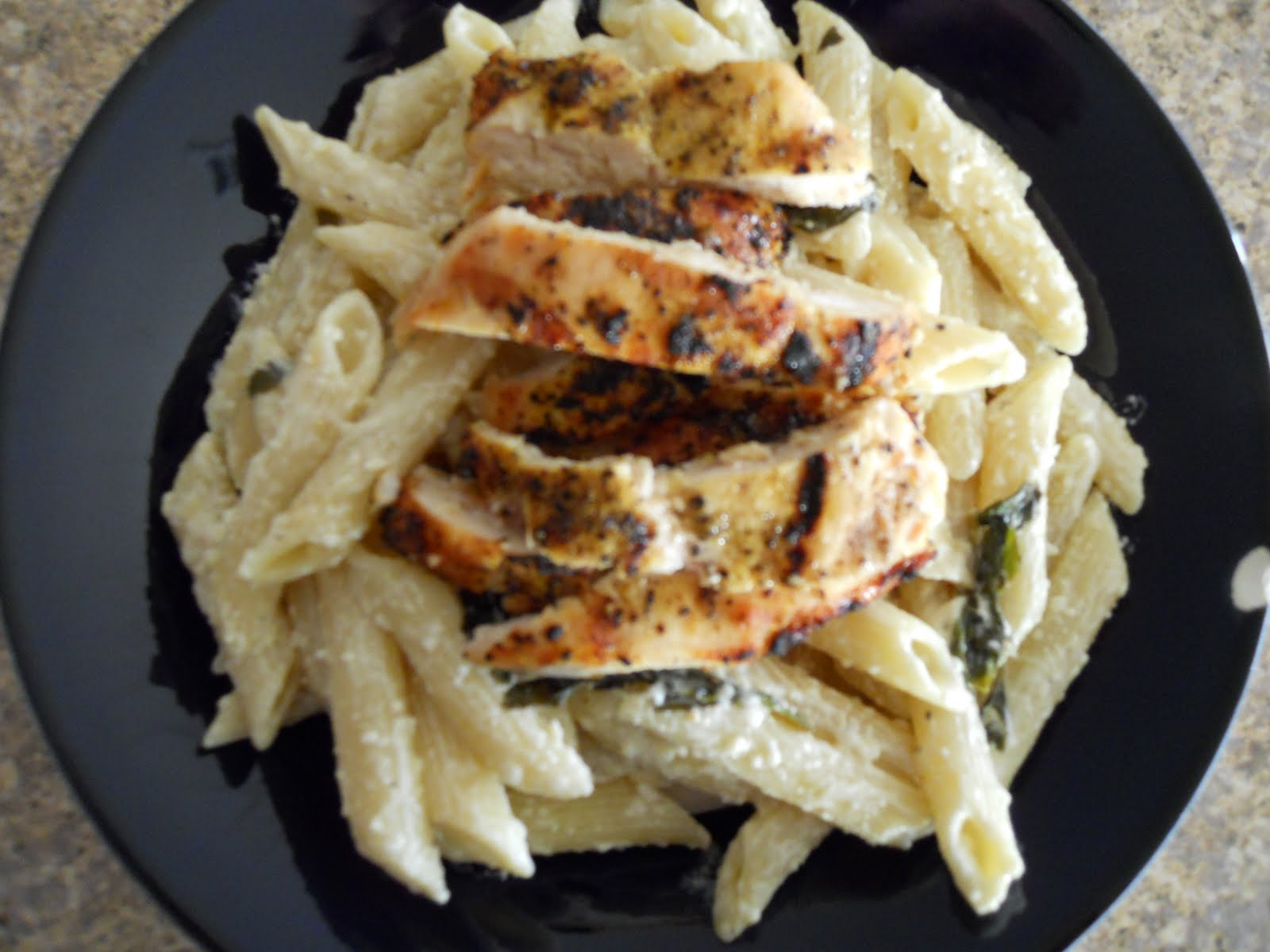 See Aimee Cook: Grilled Chicken with Lemon Basil Pasta