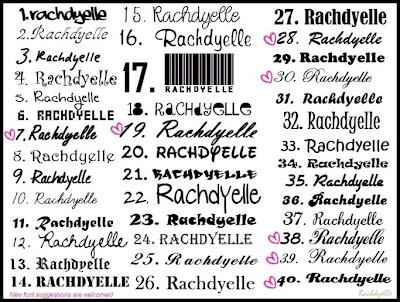 Fonts stylish name plates