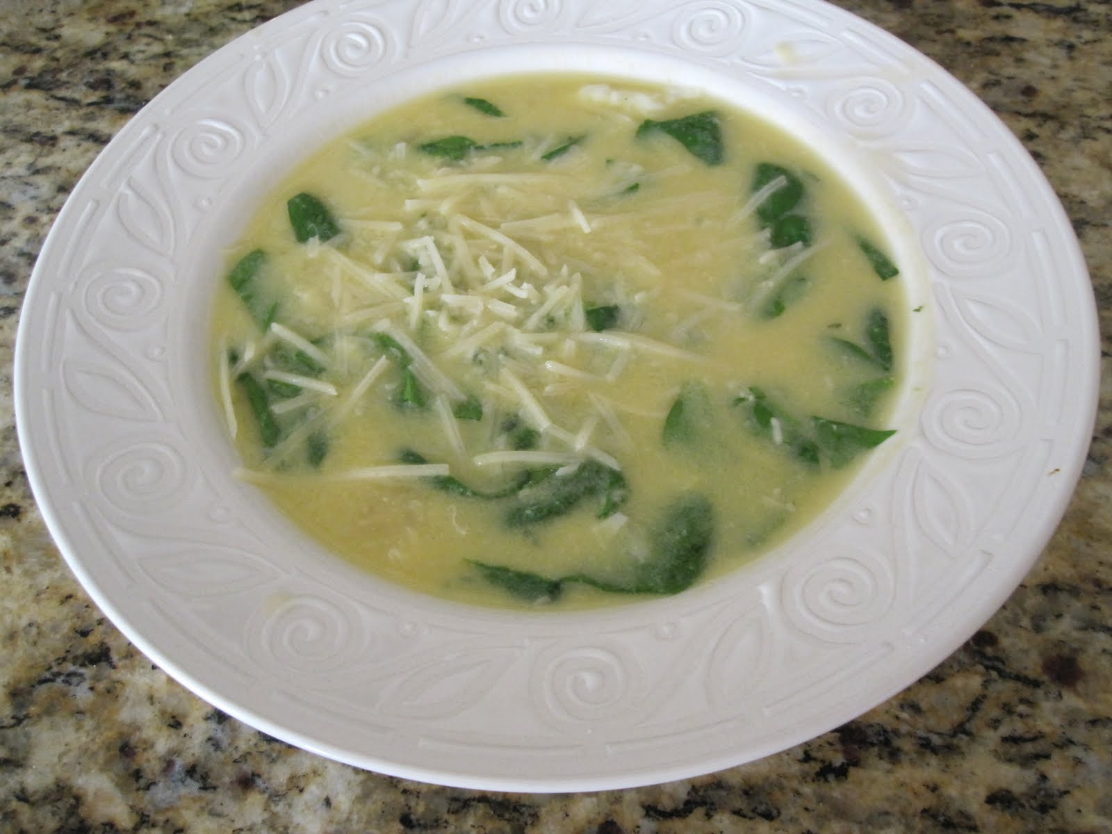 Givin' The Skinny: Stracciatella Soup With Orzo & Spinach!