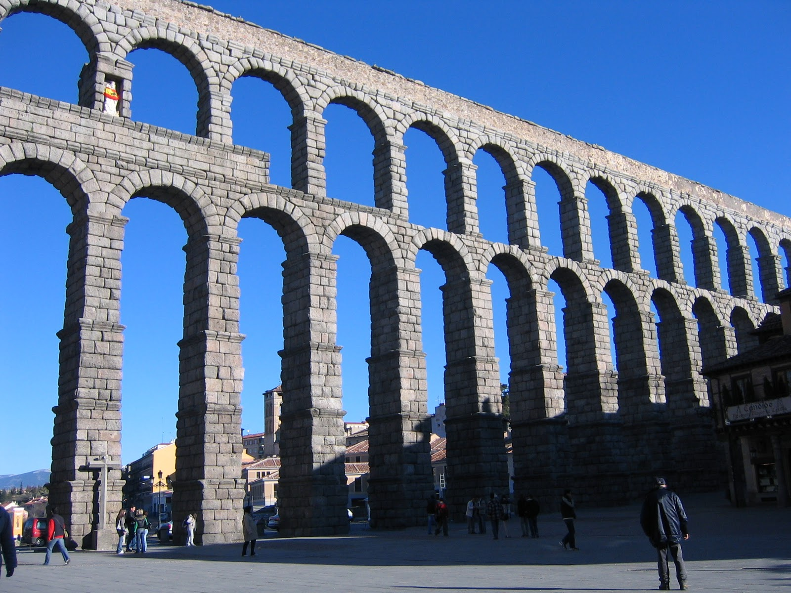 about the Roman aqueducts today  The most famous one is in SegoviaAqueducts Today
