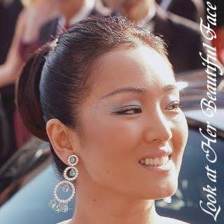 look at her beautiful face look at gong li beautiful face