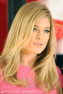 Doutzen Kroes Beautiful Face and Her Lovely Hairstyle
