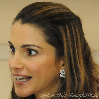 Look At Rania Al Abdullah (Queen Rania Of Jordan) Beautiful Face