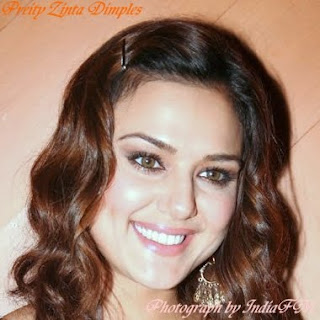 Preity Zinta Dimples on Her Face