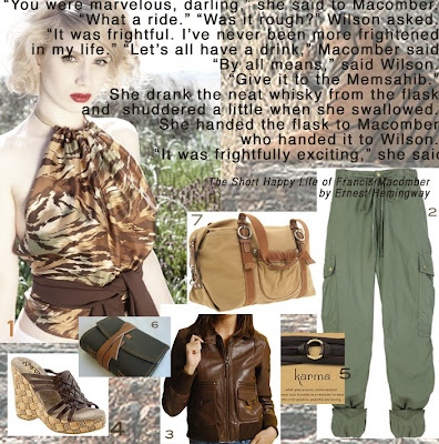 Halter Hotties: Big Game Halter Top Hunting with Hemingway & Halter Hotties :  halter top safari outfit hemingway leather journal
