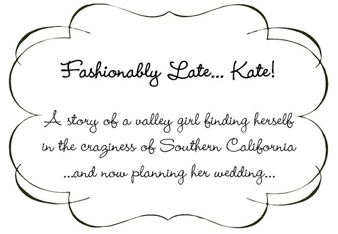 Fashionably Late... Kate!